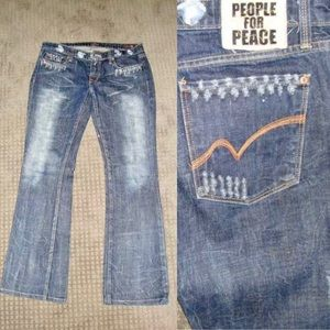 People For Peace Jeans - People For Peace Boot Cut Jeans 30